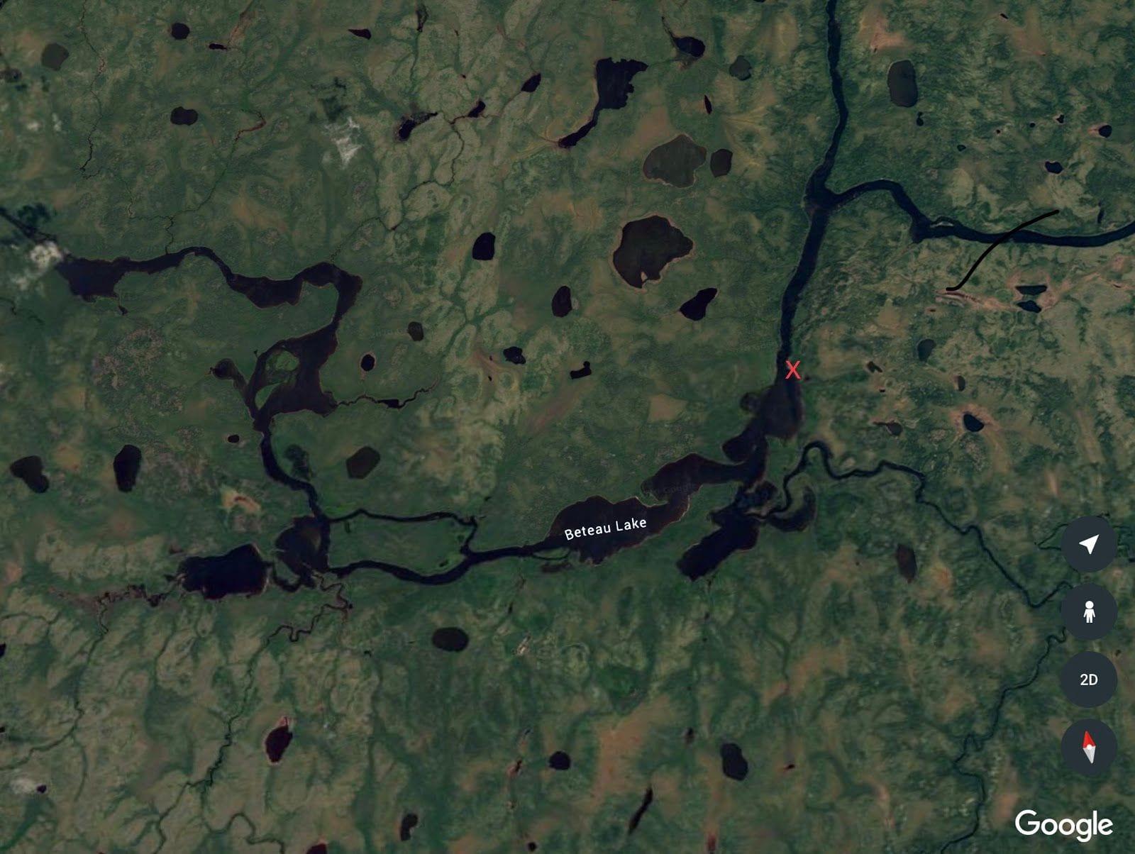 Beteau Lake Camp Map